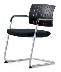 All-Tec serie 036 stoel met zwarte rug - Set van 2 stoelen
