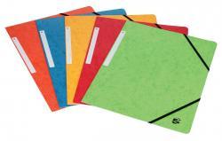 5 Star elastomap 3 kleppen - geassorteerde kleuren - pak van 10 stuks