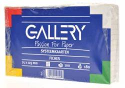 Gallery witte systeemkaarten 7,5x12,5 cm Geruit 5mm - Pak van 100 stuks