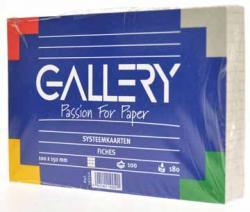 Gallery witte systeemkaarten 10x15 cm geruit 5mm - Pak van 100 stuks