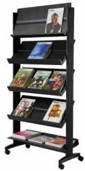 Paperflow mobiele folderhouder zwart met 5 legborden
