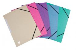5 Star elastomap 3 kleppen - geassorteerde pastelkleuren - pak van 10 stuks