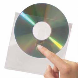 3L CD/DVD Pocket met flap - met grijpgat - etui van 10 stuks