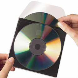 3L CD/DVD Pocket met inleghoes (beschermlaag) - Etui van 10 stuks