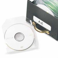 3L niet-zelfklevende CD/DVD-hoes met klep - Etui van 25 stuks