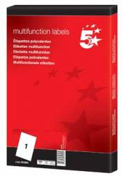 5Star witte etiketten 70x42mm
