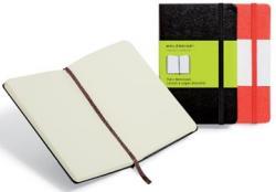 Moleskine notitieboek formaat 13 x 21 cm effen harde cover 192 bladzijden zwart