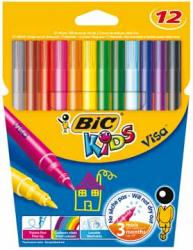 Bic Kids viltstift Visa - Etui van 12 stiften