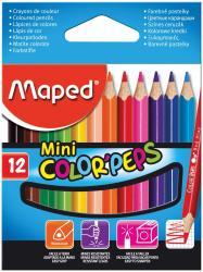Maped driehoekig kleurpotlood Color'Peps Mini - 12 stuks in kartonnen etui