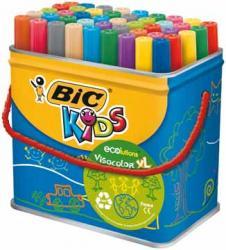 Bic Kids Viltstift Visacolor XL Ecolutions™ - 48 stuks in metalen doos