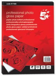 5Star™ Glossy inkjet fotopapier Professional A4 265g - Pak van 50 vel