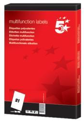 5Star witte etiketten 63,5x38,1 mm - Doos van 2.100 stuks