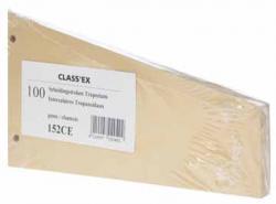 Class'ex trapezium verdeelstroken beige - Pak van 100 stuks