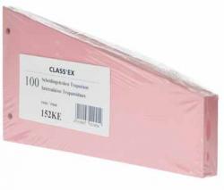 Class'ex trapezium verdeelstroken kers - Pak van 100 stuks