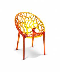 Stapelbare Designstoel Crystal oranje