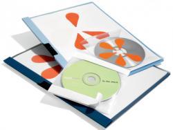 Durable CD-hoes CD Fix - 10 stuks zelfklevende CD-hoezen