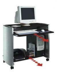 Durable design Line computertafel metaal-zilver/antraciet