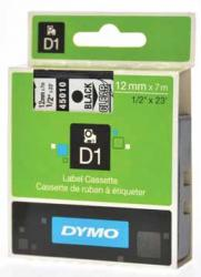 Dymo D1 tape - labeltape 12 mm x 7M rood/transparant