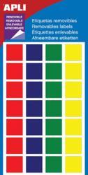 Apli verwijderbare etiketten ass. kleuren - Vierkant 15mm