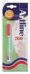 Artline permanent marker 700N rood op blister