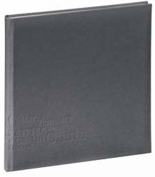 Aulfes gastenboek Europe grijs 24,5x24,5 cm