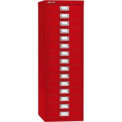 Bisley meerladekasten A4 serie 39 - 15 laden rood