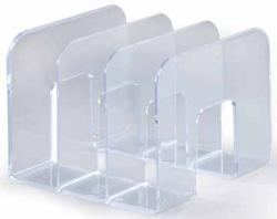 Durable boekensteun Trend transparant 210 x 215 x 165 mm