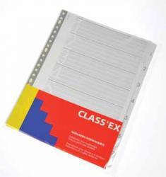 Class'ex numerieke tabbladen A4 uit wit karton 190 g/m² set 1-7