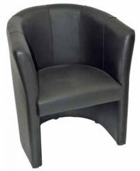 Mobo fauteuil Club uit zwart leer