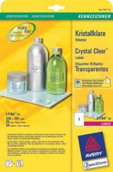 Avery transparante Crystal Clear etiketten 45x25mm