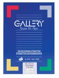 Gallery witte etiketten 105x42mm