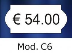 Etiketten 26 x 12 mm met golfrand wit voor prijstang - afneembaar