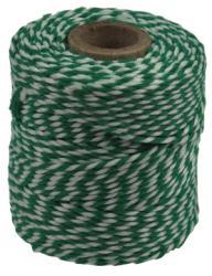 Katoentouw groen-wit klos van 50 g +/- 45m