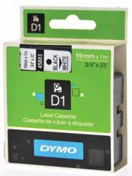 Dymo D1 tape - labelstrook 6mm x 7M zwart/wit