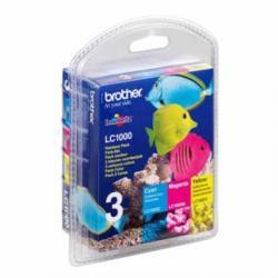 Brother LC1000RBWBP inktcartridge kleuren voordeelpak