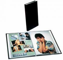 Rillstab showalbum A4 zwart met kunststof omslag