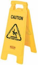 Rubbermaid waarschuwingsbord in het Engels