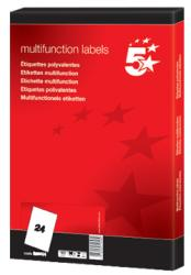 5Star witte etiketten 70x37 mm - Doos van 2.400 stuks