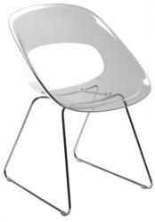 Tribi kunststof design stoel transparant