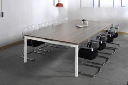 Arca vergadertafel rechthoekig 4-poots 200x100cm