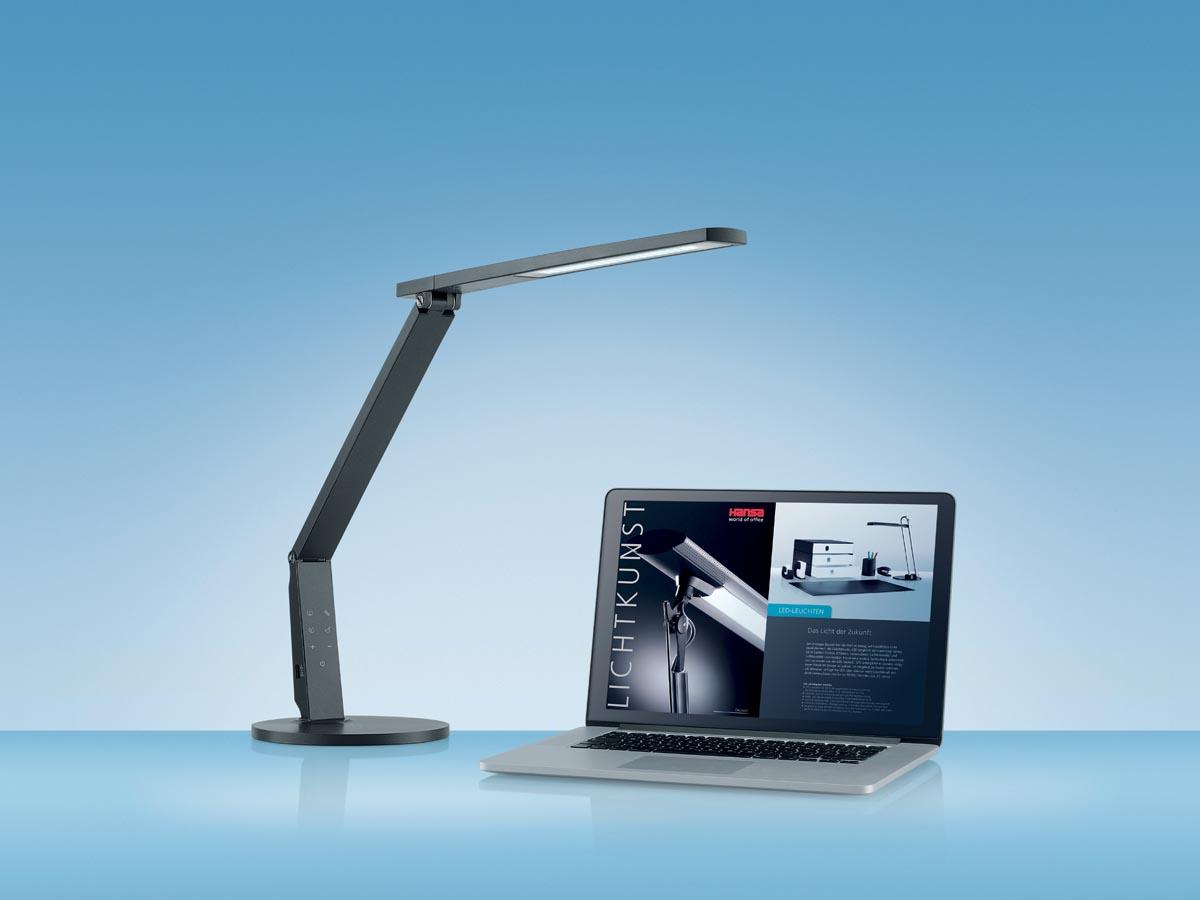 Zelfklevende Led Lampen : Hansa bureaulamp vario plus led lamp antraciet eska office
