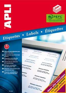 Apli witte etiketten print write 31x100mm etui van for Apli etiketten