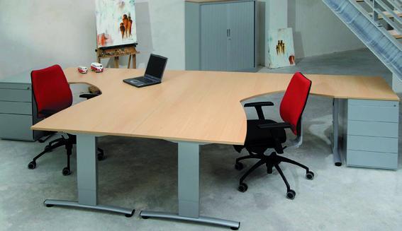 t lines 5 meubelset 2 x bureau cad cam 2 x ladeblok eska office. Black Bedroom Furniture Sets. Home Design Ideas