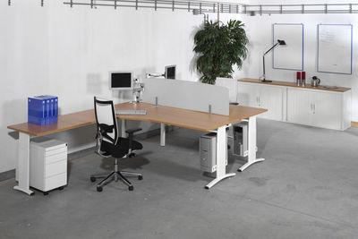 Swan l vorm bureau ng compact met aanbouwblad 200 x 220 cm eska office