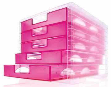 Styro ladenblok styrolightbox transparant framboos eska for Ladeblok roze