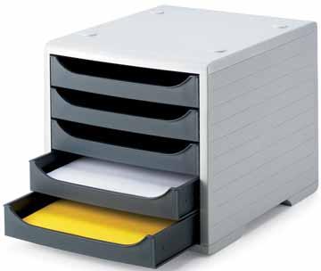 Styrodoc ladenblok styrobox 5 laden lichtgrijs for Ladenblok op bureau