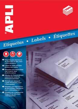 Apli witte etiketten 70x37mm doos van 12000 etiketten for Apli etiketten