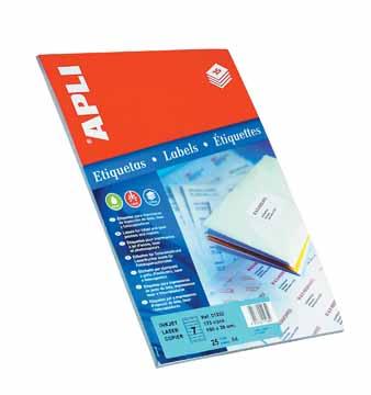 Apli etiketten 190x38mm etui van 175 etiketten eska office for Apli etiketten
