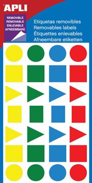 Apli verwijderbare etiketten ass kleuren geassorteerde for Apli etiketten