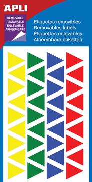 Apli verwijderbare etiketten ass kleuren driehoek 15mm for Apli etiketten